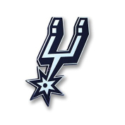 San Antonio Spurs Auto Metal Emblem Chrome