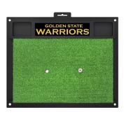 FANMATS 19723 NBA - Golden State Warriors Golf Hitting Mat, Team Colour, 50cm x 43cm