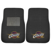 FANMATS 17206 NBA Cleveland Cavaliers 2-Piece Embroidered Car Mat