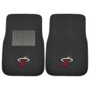 FANMATS 17609 NBA Miami Heat 2-Piece Embroidered Car Mat