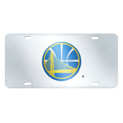 FANMATS 20410 NBA - Golden State Warriors Licence Plate Inlaid, Team Colour, 15cm x 30cm
