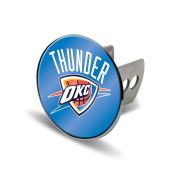 NBA Oklahoma City Thunder Laser Cut Metal Hitch Cover, Large, Silver