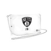 NBA Brooklyn Nets Clear Envelope Purse, 10 x 13cm x 17cm , Clear