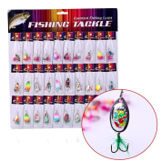 Sougayilang Rotatable Spinning Fishing Lure with Feather Pack of 30pcs