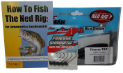 Ned Rig Kit - Z-Man Finesse T.R.D. 8pk + Finesse Shroomz Jig Heads 5pk (Green Pumpkin) + How To Fish The Ned Rig Guide