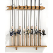 Organised Fishing Modular Wall Rack for Fishing Rod Storage