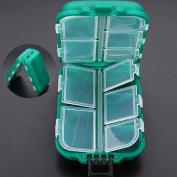 Yosoo Small 10 Compartments Waterproof Hard Fishing Tackle Box Case, Hooks Lure Baits Storage Box