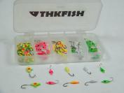 70Pcs 0.75g 0.5g 1.24g THKFISH Ice Fishing Ant Drop Jig Head Single Hooks Fishing Lures