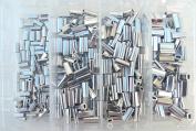 Mini Aluminium Oval Crimp Kit 100pcs each .8,1.0,1.1, & 1.3mm 23lb-70kg