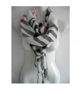 White_Soft Scarf Stole Wrap Shawl 190cm x 70cm (US SELLER) Men Women Winter Warm