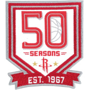2017 NBA Houston Rockets 50th Anniversary Official Warm Up Jersey Patch