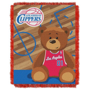 The Northwest Company Los Angeles Clippers Half-Court Baby Woven Jacquard Throw