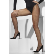 Fever Women's Lattice Net Tights, Black, One Size,5020570427705