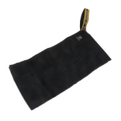 Black 8-Ball Snooker Pool Billiard Pure Cotton Towel with Metal Clip Hook