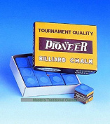 12 Boxes of 12 cubes of Tournament Quality Pioneer Chalk - Blue