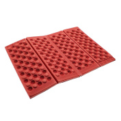 GGG Foldable Foam Waterproof Chair Cushion Seat Pads Moisture Seat Cushion XPE Mat Pad Garden Camp Picnic Travel Z-Seat - Colour:Red