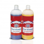 Detergent and Whitening Teak Wonder 2 Bottles of 0.95 Litres Cleaner for Boats