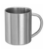 Double wall mug, mirror polished, 0,3litres
