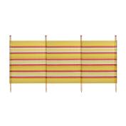 WBL 4 Pole Standard Stripes Wind Break - Yellow