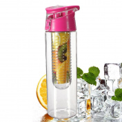 icase4u 800mL Fruit Water Bottle Juice Infuser Infusing Sports Health Flip Lid Juice Make Bottle