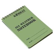 Kombat UK A6 Waterproof Notepad, Olive Green