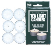 UCO Micro/Mini Regular Tea Light Candle (Pack of 6) - White