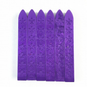 6pcs Carved Sealing Seal Wax Sticks for Retro Vintage Seal Stamp Purple