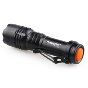 Mini Flashlight, Rcool 2000LM CREE Q5 3 Modes LED Torch Zoomable AA/14500 Battery (Not Included) Black