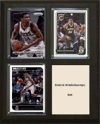 NBA Milwaukee Bucks Giannis Antekokoumpo Three Card Plaque, Brown, 20cm x 25cm