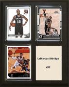 NBA San Antonio Spurs LaMarcus Aldridge Three Card Plaque, Brown, 20cm x 25cm