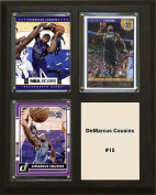 NBA Sacramento Kings NBA 20cm x 25cm DeMarcus Cousins Sacramento Kings Three Card Plaque, Brown, N/A