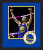 NBA Golden State Warriors 2015 Champs Steph Curry Framed Logo Mat, 33cm x 41cm , Navy