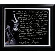 NBA New York Knicks Framed 22x26 Walt Frazier Facsimile 'The Willis Reed Game' Story Stretched Canvas