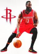 James Harden Mini FATHEAD + Houston Rockets Logo Official NBA Vinyl Wall Graphics 18cm INCH