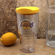 """Tervis 2671140cm NBA La Lakers"""" Tumbler with Yellow Lid, 710ml, Clear"""