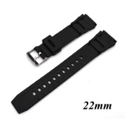 Kocome Silicone Rubber Watch Strap Band Deployment Buckle Diver Waterproof 22mm