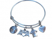 Soccer Mom Bracelet - Soccer Gifts- Soccer Mom Jewellery - Soccer Charm Bangle- Perfect Soccer Mom Gifts!!