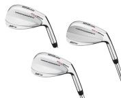 Wilson 52°, 56° & 60° Men's RH Harmonised Silver Chrome Wedge Golf Club Set