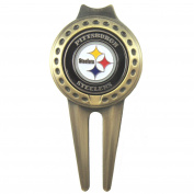 Pittsburgh Steelers Golf Divot Tool with Double Sided Ball Marker
