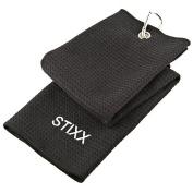 STIXX 33445 Tri-Fold Golf Towel with Heavy Duty Clip
