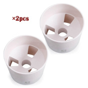 HLC 10cm Practise Green Golf Cup - Bright White Plastic 2pcs