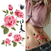 Supperb Temporary Tattoos - Chinese Rose