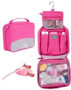 Green Venture Toiletry Bag For Women Make-up Cosmetic Kit, Pink