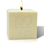 10cm PALM WAX CANDLE : LOVE