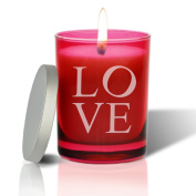 RUBY GEM COLLECTION GLASS CANDLE : LOVE