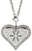 KOKO AROMA Aromatherapy Essential Oil Diffuser, Necklace Stainless Steel Locket Pendant