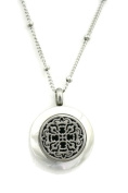 Allure Small Silver 316L Stainless Steel Essential Oil Diffuser Necklace- 46cm