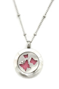Flutter Butterfly Small 316L Stainless Steel Essential Oil Diffuser Necklace- 46cm