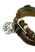 Sepia Brown Leather Essential Oil Diffuser Bracelet