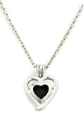 Beloved Silver Heart Essential Oil Diffuser Necklace- 46cm